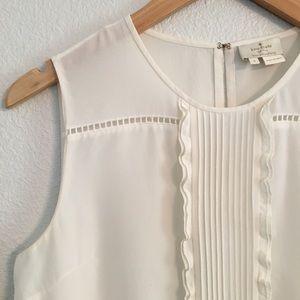 Kate Spade Ivory Sleeveless Blouse 100% Silk Sz 6